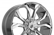 "LEXANI® - LUST Chrome (17"" x 7.5"", +40 Offset, 5x100 Bolt Pattern, 73mm Hub)"