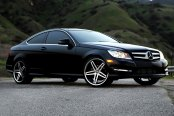 LEXANI® - R-FIVE Machined Black with SS Lip on Mercedes C Class Coupe