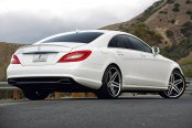LEXANI® - R-FIVE Machined Black with SS Lip on Mercedes CLS Class
