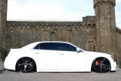 LEXANI® - R-FOUR Gloss Black with Machined Accents and Exposed Lugs on Chrysler 300S