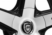 LEXANI® - R-FOUR Gloss Black with Machined Face and Covered Lugs Close-Up