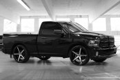 LEXANI® - R-FOUR Gloss Black with Machined Face and Covered Lugs on Dodge Ram
