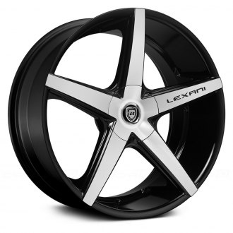 LEXANI® - R-FOUR Gloss Black with Machined Face and Covered Lugs