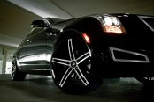LEXANI® - R-THREE Gloss Black with Machined Face on Cadillac ATS