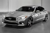 LEXANI® - R-THREE Gloss Black with Machined Face on Infiniti Q50