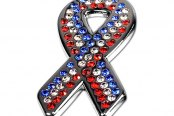 License 2 Bling® - Ribbon with Red, White and Blue Crystals