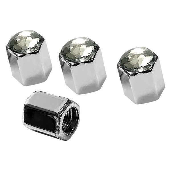 License 2 Bling® - Tire Valve Stem Caps with Ice Crystal