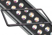 License 2 Bling® - 256 Series Black Frame with Aurore Boreale Crystals