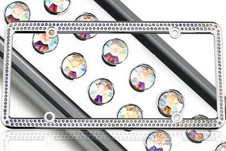 License2Bling® - 256 Series Chrome Frame with Aurore Boreale Crystals