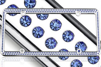 License 2 Bling® 1215-256-CR-BLUE - 256 Series Chrome Frame (Blue Crystals)