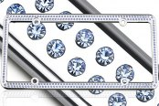 License 2 Bling® - 256 Series Chrome Frame with Light Blue Crystals