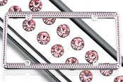 License 2 Bling® - 256 Series Chrome Frame with Light Pink Crystals