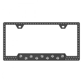 License 2 Bling® - Graphic Series Paw Print Frame