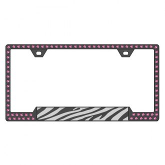 License 2 Bling® - Graphic Series Zebra Print Frame