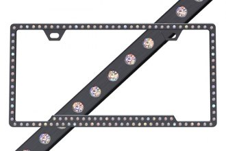 License2Bling® - Slimline Series Black Frame with Aurore Boreale Crystals