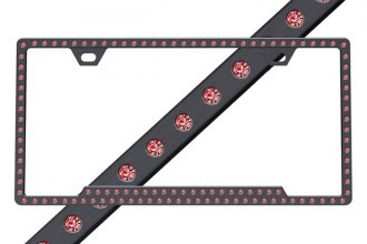 License 2 Bling® - Slimline Series Black Frame with Red Crystals