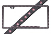 License 2 Bling® - Slimline Series Black Frame with Rose Crystals