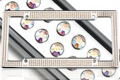 License 2 Bling® - VIP Series Chrome Frame with Aurore Boreale Crystals
