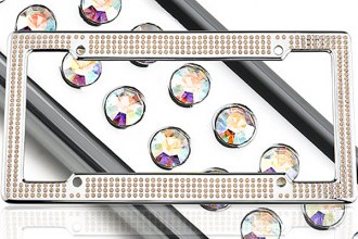 License 2 Bling® 1414-VIP-CR-AB - VIP Series Chrome Frame (Aurore Boreale Crystals)
