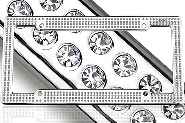 License 2 Bling® - VIP Series Chrome Frame with Ice Crystals