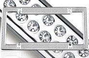 License 2 Bling® 1411-VIP-CR-ICE - VIP Series Chrome Frame (Ice Crystals)