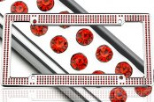 License 2 Bling® - VIP Series Chrome Frame with Red Crystals
