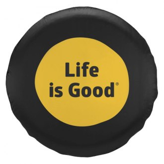 "Life Is Good® - 31"" x 11"" ""Life Is Good"" Black Tire Cover"