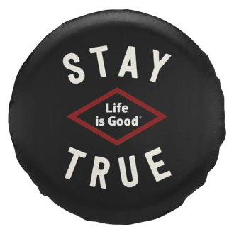 "Life Is Good® - 33"" x 13"" ""Stay True"" Black Tire Cover"