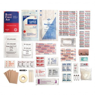 lifeline 72 pieces trail light 3 survival first aid kit