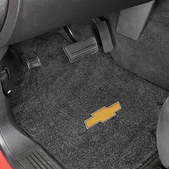Lloyd® - Ultimat™ Custom Fit 1st Row Ebony Floor Mats With Gold Bowtie Logo