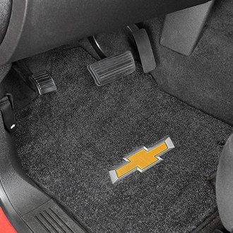 Lloyd® - Ultimat™ Custom Fit 1st Row Ebony Floor Mats With 3D Bowtie Logo
