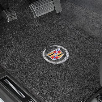 Lloyd® - Ultimat™ Custom Fit 1st and 2nd Row Ebony Floor Mats With Cadillac Logo