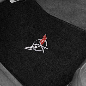 Lloyd® - Velourtex™ Custom Fit 1st Row Black Floor Mats With C5 Logo