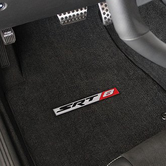 Lloyd® - Velourtex™ Custom Fit 1st and 2nd Row Ebony Floor Mats With SRT8 Logo