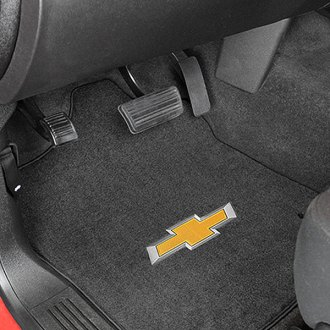 Lloyd® - Velourtex™ Custom Fit 1st Row Ebony Floor Mats With 3D Bowtie Logo