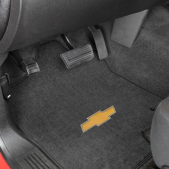 Lloyd® - Velourtex™ Custom Fit 1st Row Ebony Floor Mats With Gold Bowtie Logo