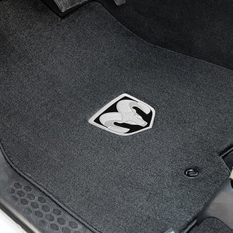 Lloyd® - Velourtex™ Custom Fit 1st Row Ebony Floor Mats With Ram Logo