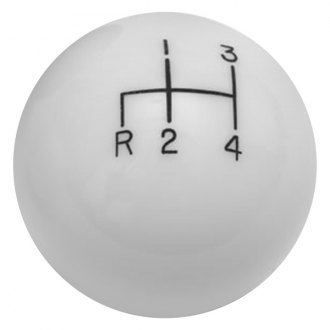 Lokar® - Manual 4-Speed Pattern Ivory Reverse Down Left Shift Knob