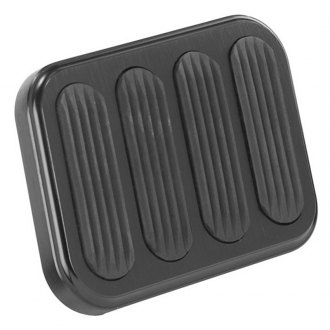 Lokar® - Midnight Series XL Series Billet Aluminum Brake Pedal Pad with Rubber Inserts