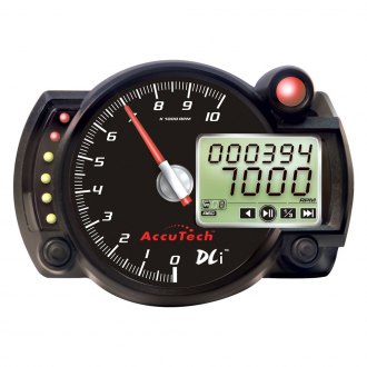 Longacre® - AccuTech™ SMi™ Stepper Motor Style Data Logging Tachometer W/O Panel, Black