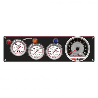 Longacre® - 3 Gauge AccuTech™ Sportsman™ Gauge Aluminum Panel with AccuTech™ SMi™ Tachometer