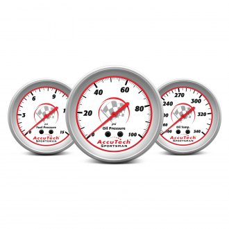 Longacre® - AccuTech™ Sportsman™ 2015 In-Dash White Gauges
