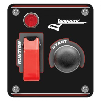 Longacre® - Aluminum Start and Ignition Panel with Weatherproof Switch Cover and Pilot Light