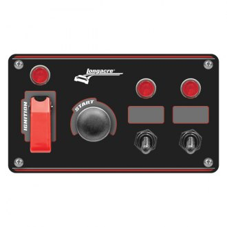 Longacre® - Aluminum Start and Ignition Panel with 2 Accessory Switch and 2 Pilot Lights