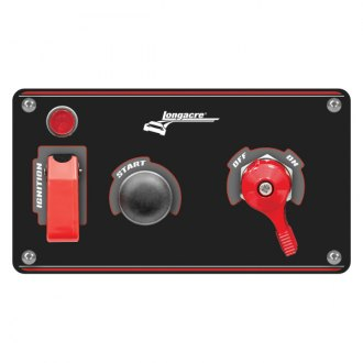 Longacre® - Aluminum Start and Ignition Panel with Pilot Light and Battery Disconnect