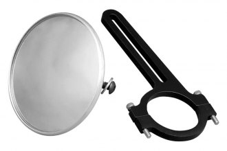 "Longacre® 22548 - 3-3/4"" Spot Mirror with Aluminum Bracket, 1-3/4"" Roll Bar"