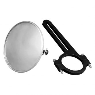 "Longacre® - 3-3/4"" Spot Mirror with Aluminum Bracket, 1-1/2"" Roll Bar"