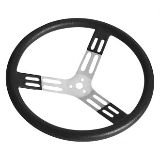 Longacre® - Dished Polyurethane Bump Grip Style Aluminum Steering Wheel