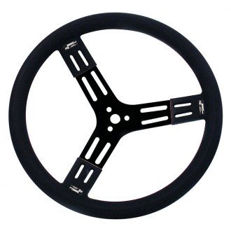 Longacre® - Dished Polyurethane Smooth Grip Style Steel Steering Wheel