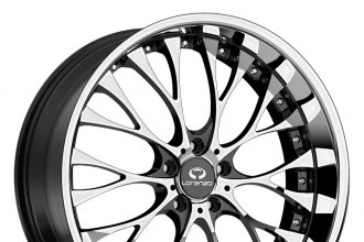 "LORENZO® - WL27 Chrome with Gloss Black Windows (20"" x 8.5"", +35 Offset, 5x114.3 Bolt Pattern, 72.6mm Hub)"